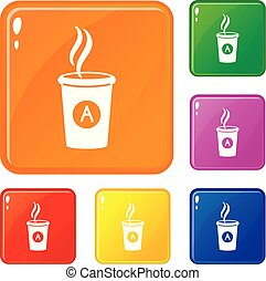 Brand product icons set vector color