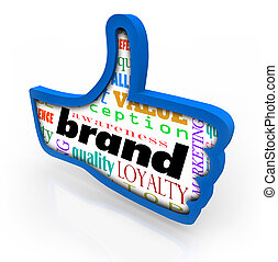 Brand Product Marketing Loyalty Thumbs Up Symbol - Brand...