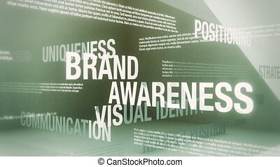 Brand Related Terms - Seamlessly looping animation showing a...