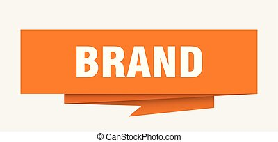 brand sign. brand paper origami speech bubble. brand tag. ...