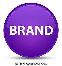 Brand special purple round button