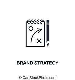 Brand Strategy icon. Creative element design from business strategy icons collection. Pixel perfect Brand Strategy icon for web design, apps, software, print usage
