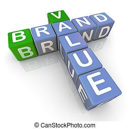 Brand value crossword