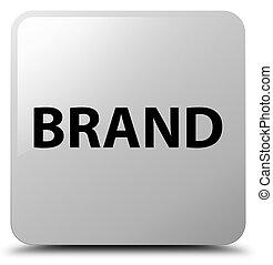 Brand white square button