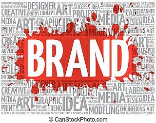 BRAND word cloud, creative concept