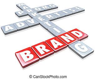 Brand Words on Tiles Advertise Promotion Branding Marketing