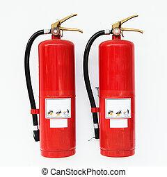 brandblusser, rood
