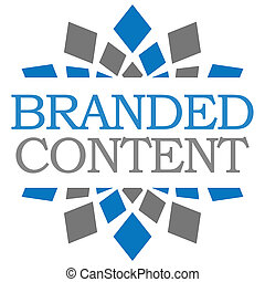 Branded Content Blue Grey Squares