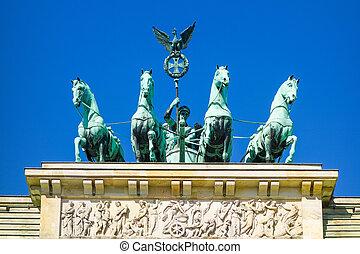 brandenburg, berlim, portão, alemanha