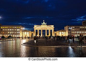 brandenburg, berlin, portail, allemagne