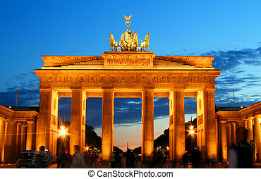 brandenburg, berlin, portail