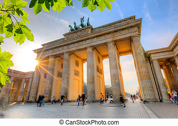 Brandenburg gate at sunset - Brandenburg gate at summer,...