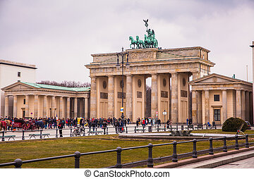 Brandenburg Gate, Berlin - Brandenburg Gate with Pariser...
