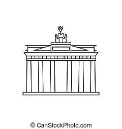 Brandenburg gate icon. Outline Brandenburg gate vector icon for web design isolated on white background