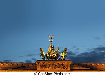 Brandenburg Gate in Berlin at night Germany