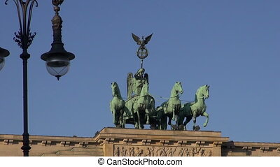 Brandenburg Gate in Germany capital. Sculpture art