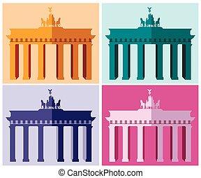 Brandenburg Gate in Berlin.