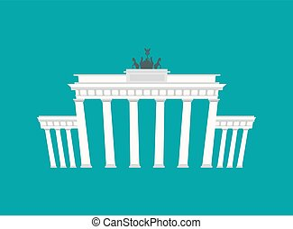 Brandenburg Gate, Landmark Germany. Historic architecture building in Berlin