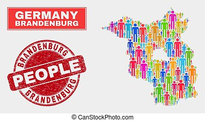 Brandenburg Land Map Population People and Corroded ...