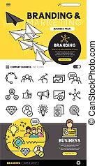 Branding and marketing Set