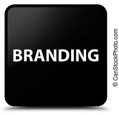 Branding black square button