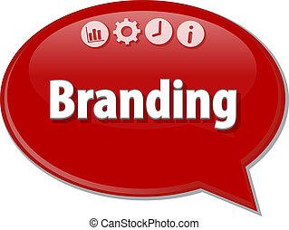 Branding Business term speech bubble illustration