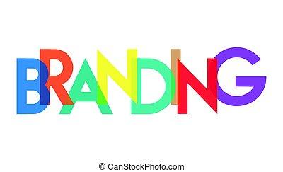 branding, carta, colorido, transparant