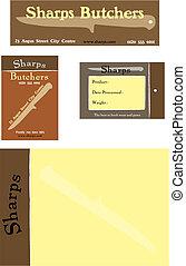 Branding concept for a meat market or butcher shop