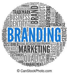 branding, concepto, etiqueta, nube