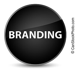Branding elegant black round button