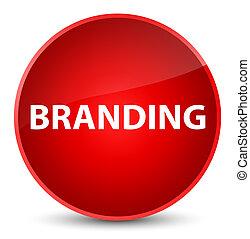 Branding elegant red round button