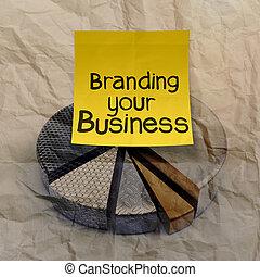 branding, gráfico, arrugado, empresa / negocio, pastel, ...