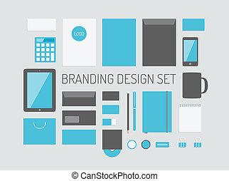branding, identidad, vector, colección