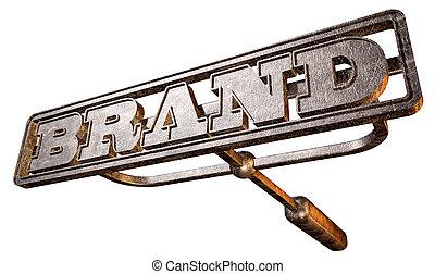 branding, marca, metal, perspectiva