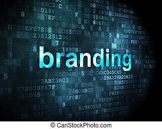 branding, mercadotecnia, concept:, plano de fondo, digital