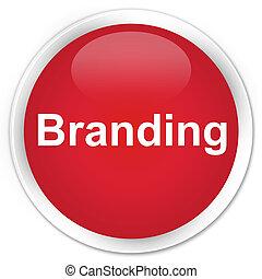 Branding premium red round button