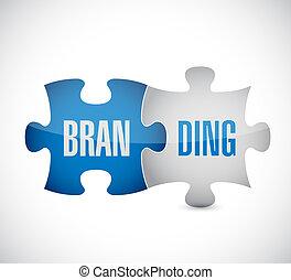branding puzzle piece sign concept illustration design...