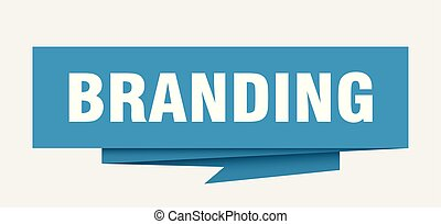 branding sign. branding paper origami speech bubble....