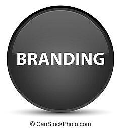 Branding special black round button