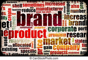 Branding of Market Product Word Cloud Background