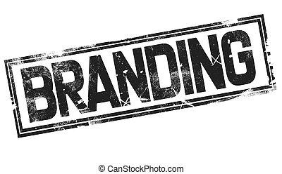 Branding word with black frame