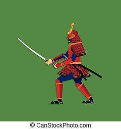brandir, épée samouraï, guerrier