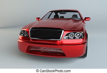 brandless, 一般的, 赤い自動車