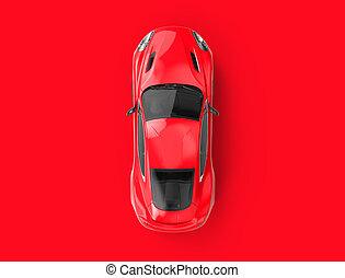 brandless, coche, genérico, plano de fondo, rojo