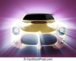 brandless, deporte, automóvil de lujo