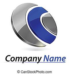 brandmarken, 3d, logo