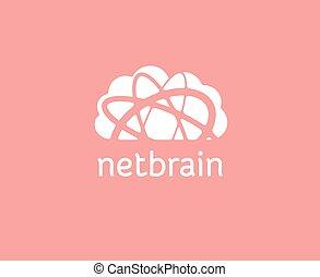 brandmarken, abstrakt, lagerung, logotype, vektor, schablone, logo, concept., wolke, ikone