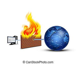 brandmauer, schutz