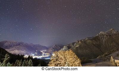 Brandnertal Vorarlberg stars timelapse