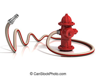 brandslang, hydrant